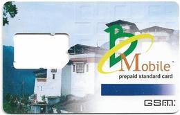 Bhutan - BMobile - Prepaid Standard Card, Houses, GSM SIM Card, Used-Frame - Bhutan