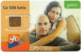 Czech Republic - Eurotel - Juice Go SIM Karta, Couple, GSM SIM2 Mini, Mint - República Checa