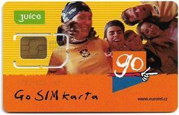 Czech Republic - Eurotel - Juice Go SIM Karta, Youngsters, GSM SIM2 Mini, Mint - República Checa