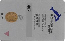 Denmark - Sonofon - Old GSM SIM FULL ISO (Type #3A), Used - Dinamarca