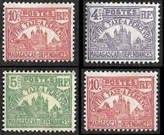 MADAGASCAR  1908  - Taxe  8 - 9 - 10 - 11 -  NEUFS* - Madagascar (1889-1960)