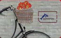 Denmark - Sonofon - Bicycle With Flowers (Type #1), GSM SIM2 Mini, Mint - Dinamarca