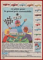 Lessive CRIO. Des Voitures De Sport En Métal Verni Ferrari, Alfa Roméo, Mercedes ... En Cadeaux. Dessin Alain Grée. 1964 - Publicités