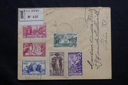 DAHOMEY - Enveloppe En Recommandé De Porto Novo Pour Paris En 1937, Affranchissement Série Exposition - L 54485 - Dahomey (1899-1944)