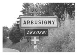ARBUSIGNY - Panneau Entrée - Autres Communes