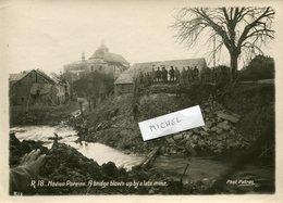 Ardennes.NOVION-PORCIEN. A Bridge Blown Up A Late Mine (destruction Par Les Allemands 1918) - 1914-18