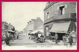 CPA Cayeux Sur Mer - Place Du Marché - Cayeux Sur Mer