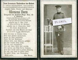 Ardennes.ORFEUIL. 1918. Sterbebild Avis Décès Soldat Allemand - 1914-18