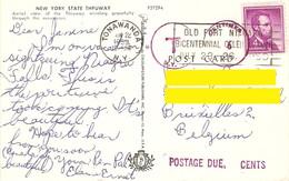 CP Etats-Unis NY 1959 - New York State Thruway - De Tonawanda à Bruxelles - Cachet Postage Due - 6 Centimes - Surtaxe - Etats-Unis