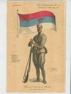 GUERRE 1914-18 - LES SOLDATS DU DROIT - SOLDIERS OF JUSTICE AND RIGHT - MONTENEGRO - Illustrateur DUPUIS - War 1914-18