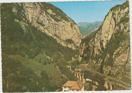 Pyrénées  Atlantique :   URDOS  : Vue    Des  Gorges Du  Portalet  1971 - Francia
