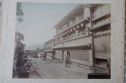 2 Photos Anciennes Japon Japan Nagasaki Prostitute Quarter ...Kyoto Geisha Girls - Oud (voor 1900)