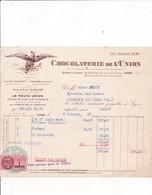 69- Chocolaterie  De L'Union...Lyon..(Rhône)..1942 - Alimentaire