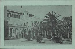 CP Verte FM Franchise Militaire EPA E.P.A. 1 Rue Feuillet Alger Erreur Noté ALGRE Palais D'été Algérie - Cartes De Franchise Militaire