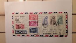 BRIEF VERZONDEN VAN HSINCHU FORMOSA NAAR HOUTAIN LE VAL BELGIË BELGIQUE 1958 MET STERSTEMPEL HOUTAIN LE VAL - 1945-... République De Chine