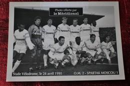 STADE VÉLODROME O.M. FOOTBALL OLYMPIQUE DE MARSEILLE 2 / SPARTAK MOSCOU 1---- 24/4/1991 Photographie Photo Sports - Reproductions