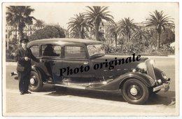 Autos Voitures Automobiles Cars Carte Photo - RENAULT Nervastella ZD2 1934 Conduite Intérieure 7 Places Chauffeur NICE ? - Automobili