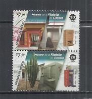 MEXICO 2018 - PHILATELIC MUSEUM OF OAXACA - CPL. SET - SE-TENANT - POSTALLY USED OBLITERE GESTEMPELT USADO - Mexico