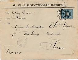 J62 - Marcophilie - Japon Vers La France - Cachet Date Du 25 Janvier 1906 - Covers & Documents