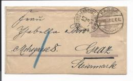 Ungarn S 2  -  2 Kr. Ziffer Streifband  N. Graz Bedarfsverwendet - Interi Postali