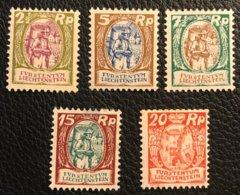 FL 1924/28 Zumstein-Nr. 64-66 Und 68-69 * Ungebraucht Mit Gummi Und Falz - Nuevos