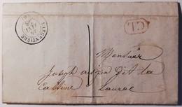 """Ancienne Lettre Cursive Du 23 Janvier 1838 - Cachet CL & Cachet Postale """"L'ARGENTIERE Du 24 JANV 38"""" - Cachets Généralité"""