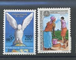 1995   ONU Et FAO.  Yv 948 949 ** - Côte D'Ivoire (1960-...)