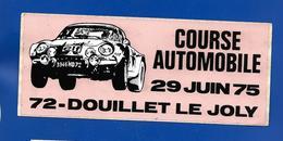 A.C. COURSE AUTOM; Douillet Le Joly SARTHE - Stickers
