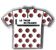AB - T17 - TOUR DE FRANCE - MAILLOT BLANC A POIS ROUGES - Verso :  ARTHUS BERTRAND - Arthus Bertrand