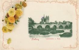 "LIMBURG. "" Lahnbrücke U. Dom."" Encadrement Fleuri. (superbe) - Sin Clasificación"