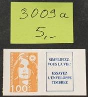 Timbre De Carnet N° 3009a  Neuf **  TB - Usados Corriente