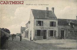 OULINS LA RUE PRINCIPALE CAFE BOURGEOIS 28 - France