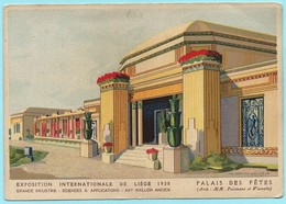 1014 - BELGIE - LUIK - LIEGE - EXPOSITION INTERNATIONAL 1930 - PALAIS DES FETES - Luik