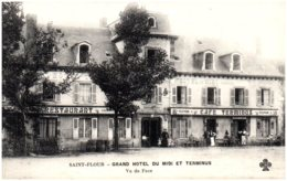 15 SAINT-FLOUR - Grand Hotel Du Midi Et Terminus - Vu De Face - Saint Flour