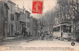 CPA BOUCHES-DU-RHONE - 2144 - LA PENNE - Arrivée Du Tramway De Marseille Allant Sur Aubagne - Francia