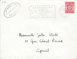 34° RÉGIMENT Du GÉNIE - LE VAGUEMESTRE Timbre Franchise  N°12 - Sarrebourg 4 Juillet 1964 Pour Épinal - Postmark Collection (Covers)