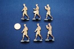 6 Zinnsoldaten WK 2 / Drittes Reich / Höhe 45 Mm - Army & War