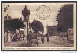 Carte Postale Douanes  Douaniers Frontière Franco Allemande à Strasbourg  Kehl  Trés Beau Plan - Dogana