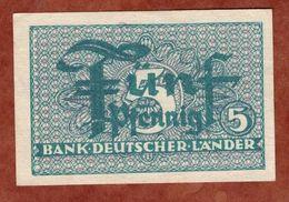 5 Pfennig, Bank Deutscher Laender (91660) - [ 7] 1949-… : RFA - Rep. Fed. Tedesca