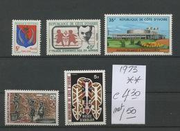 1973   Poste **. Sans Charnière. Cote 4,30 Euros - Ivoorkust (1960-...)