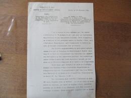 LILLE LE 15 DECEMBRE 1941 LE PREFET F.CARLES RECENSEMENT DES INFIRMIERES ET DES ASSISTANTES SOCIALES EN VUE DE L'ATTRIBU - Documents Historiques