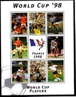 Soccer World Cup 1998 - LIBERIA - Sheet MNH - Coppa Del Mondo