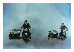 Moto Motard Side Car Sidecar CPM Peinture à L' Huile De Pascal Lecocq - Motos