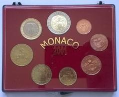 COFFRET FDC - MONACO - 2001 - 1cts à 2€ (8 Pièces) - Monaco