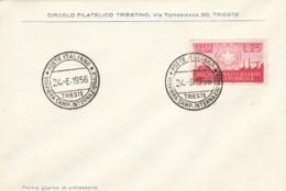 FDC ITALIA 1956 DECIMO ANNIV REPUBBLICA (TY771 - Entiers Postaux