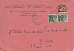 LETTERA 1946 2+2X1 TIMBRO S.STINO DI LIVENZA -UFFICIO PROVINCIALE DEL LAVORO (TY960 - 1946-.. République