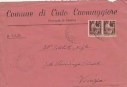 LETTERA 1946 2X2 L. TIMBRO COMUNE DI CINTO MAGGIORE (TY973 - 1946-.. République