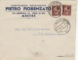 LETTERA 1946 2X2 L. TIMBRO VENEZIA MESTRE STAZIONE - PIETRO FIORENZATO (TY979 - 1946-.. République