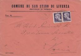 LETTERA LUOGOTENENZA 1945 2X1 L TIMBRO SAN STINO DI LIVENZA (TY992 - 1944-46 Lieutenance & Humbert II