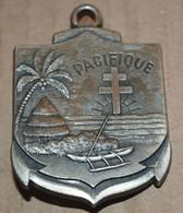 Rare Insigne Régiment D'infanterie De Marine Du Pacifique - Armée De Terre